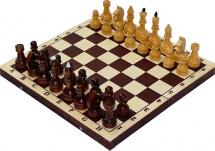 Шахматы Орловская ладья обиходные лакированнные с темной доской