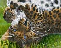 Мозаика алмазная Рыжий кот Игривый леопард 40х50 см на подрамнике