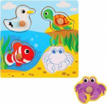 Вкладыши Mapacha Море (утка, черепаха, рыба, краб)