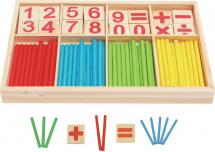 Набор для изучения счета Mapacha Счетные палочки 72 элемента
