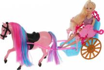 Кукла Bettina с каретой и лошадью