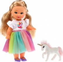 Кукла Mary Poppins Мой милый пушистик Элиза с единорогом, 25см