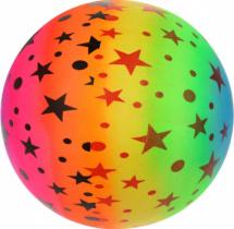 Мяч Звездочки 22 см, неон микс