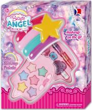 Косметика для девочки Звезда. Тени для век, помада, лак для ногтей, заколка