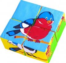 """Кубики Мякиши """"Собери картинку. Птицы"""""""
