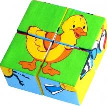 Кубики Мякиши Собери картинку. Птицы