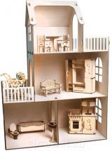Набор Кукольный домик Polly Чудесный дом Лайт с мебелью