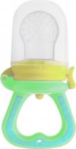 Ниблер Mepsi силиконовый со сменной сеточкой, желто-зеленый