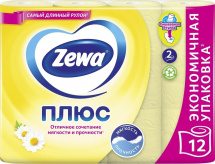 Туалетная бумага Zewa Плюс Ромашка 2 слоя 12 рулонов