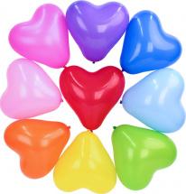 """Воздушный шарик 12""""/30см Сердце Металлик ассорти 1 шт, цвет микс"""
