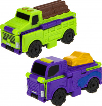 Автовывернушки 1Toy Transcar. Лесовоз/Автовоз