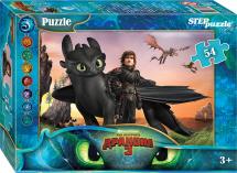 Пазлы Steppuzzle DreamWorks. Как приручить дракона - 3 54 элемента