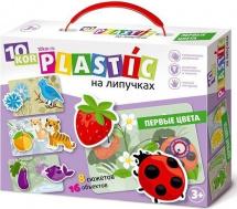 Обучающая игра Десятое королевство Пластик на липучках. Первые цвета