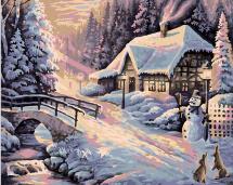 Картина по номерам Polly Зима 50х40 см