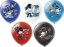 """Воздушный шарик 12""""/30см С днем рождения! Приключения пирата"""