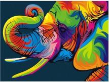 Картина по номерам Polly Радужный слон 50х40 см