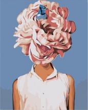 Картина по номерам Polly С розовым цветком 50х40 см