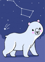 Картина по номерам Polly Большая медведица 20х15 см