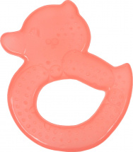 Прорезыватель Knopa Уточка охлаждающий, оранжевый