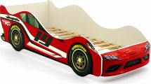 Кровать-машина Супра, красный