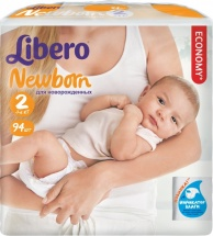 Подгузники Libero Newborn 2 (3-6 кг) 94 шт