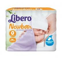 Подгузники Libero Newborn 0 (0-2,5 кг) 24 шт