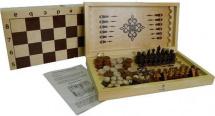 Набор 3в1 Ладья С нарды, шашки, шахматы