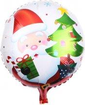 """Воздушный шарик 18""""/45см Дед мороз с подарками фольгированный"""