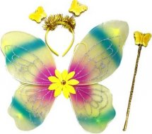Карнавальный набор Крылья бабочки с цветочком