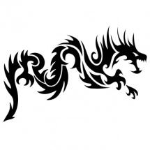 """Наклейки """"Черный дракон"""", Metylan Creativ' (Метилан Креатив)"""