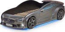 Кровать-машина EVO Вольво объемная 3d, с максимальным набором опций, графит