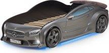 Кровать-машина EVO Мерседес объемная 3d, с максимальным набором опций, графит