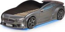 Кровать-машина EVO Тесла объемная 3d, с максимальным набором опций, графит