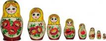 Матрешка Вятский сувенир Россиянка расписная 8 фигурок