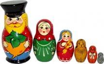 Матрешка Вятский сувенир Репка авторская роспись 6 фигурок