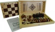 Набор 4в1 Ладья-С нарды, шашки, шахматы, карты