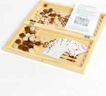 Набор 3в1 Ладья-С нарды, шашки, карты