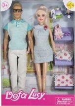 Куклы Defa Lucy Счастливая семья с аксессуарами, голубой