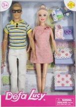 Куклы Defa Lucy Счастливая семья с аксессуарами, розовый