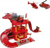 Парковка Пожарная станция 50 деталей с машинкой и вертолетом