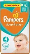 Подгузники Pampers Sleep&Play 4 (9-14 кг) 68 шт