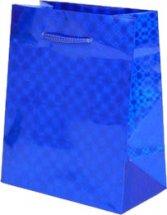 Пакет подарочный Голография-2 26х32 см,синий