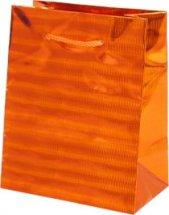 Пакет подарочный Голография-2 26х32 см, оранжевый