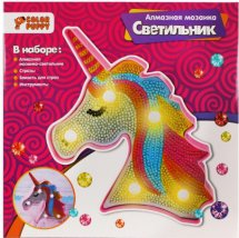Мозаика алмазная Color Puppy Единорог-светильник