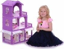 Кукольный домик Николь с мебелью для кукол до 16 см, бело-розовый