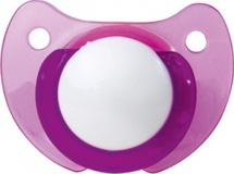 Пустышка Пома Фиолетовая латекс ортодонтическая с 0 мес