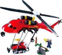 Конструктор Sluban Пожарный. Вертолет 325 деталей