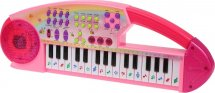 Синтезатор 32 клавиши с записью, розовый