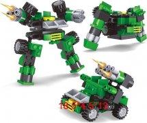Конструктор Ausini Трансформеры 8в1 65 деталей, зеленый