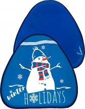 Ледянка Лидер Зимние каникулы 54х52 см, темно-синий